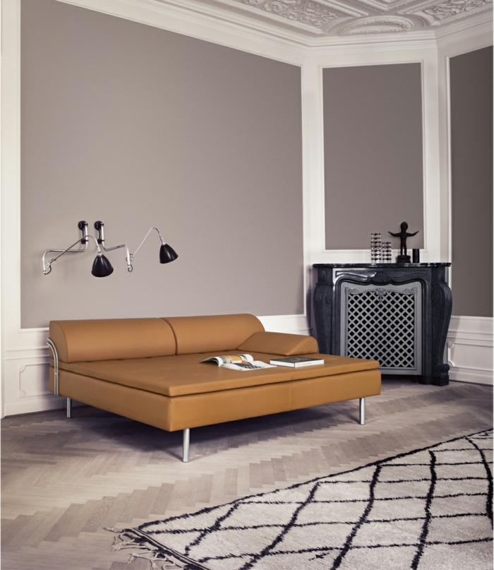 dänisches design skandinavisch wohnen wohnstil ledersofa gubi
