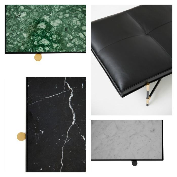 dänisches designs kandinavische möbel texturen marmor leder