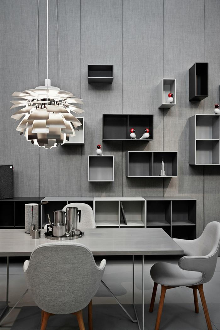 dänisches design skandinavische möbel wohnstil monochromatisch grau