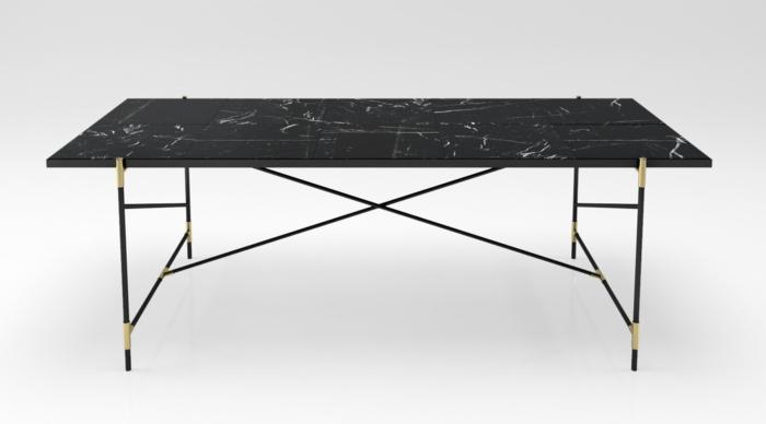 schwarzer marmor esstisch – dogmatise, Esszimmer dekoo