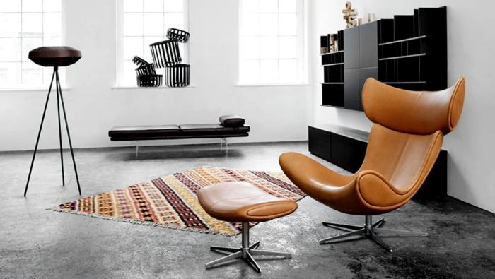 dänisches design skandinavischer stil ledersessel imola chair boconcept