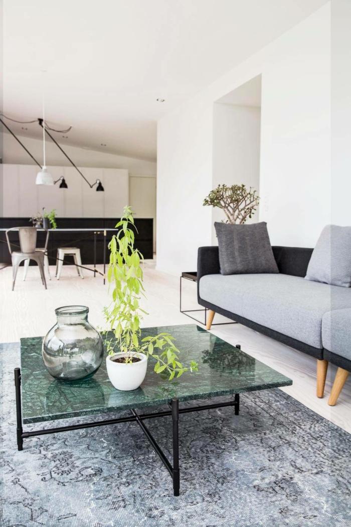 dänisches design skandinavischer wohnstill wohnzimmer couchtisch marmor