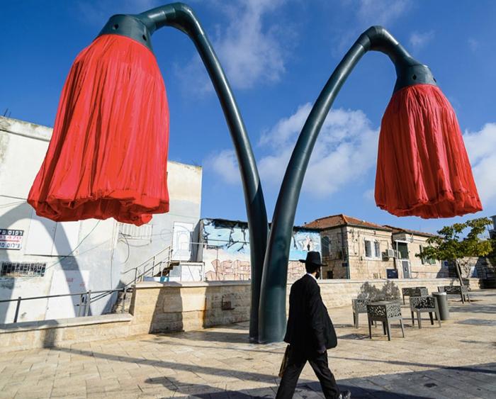 designer lampen jerusalem israel platzstraßenbeleuchtung