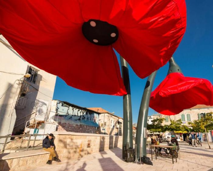 designer lampen jerusalem straßenbeleuchtung blumen sonnenschutz