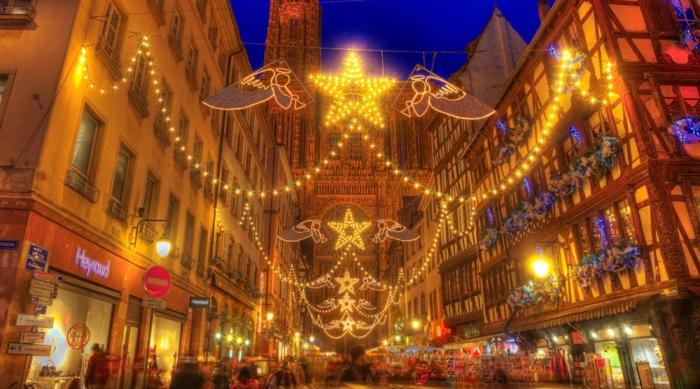 die schönsten weihnachtsmärkte weihnachtsschmuck strassbourg frankreich eingang