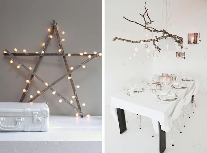 diy deko ideen weihnachten adventszeit baumzweige strern selber basteln