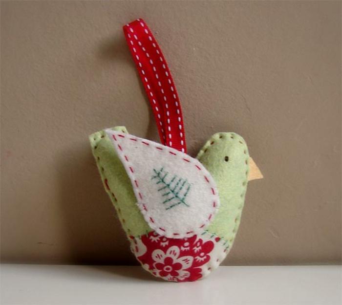 diy deko ideen weihnachten adventszeit tannenbaumschmuck vogel selber machen