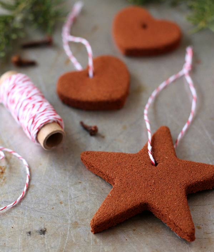 diy deko ideen weihnachten adventszeit zimt baumanhänger stern selber machen