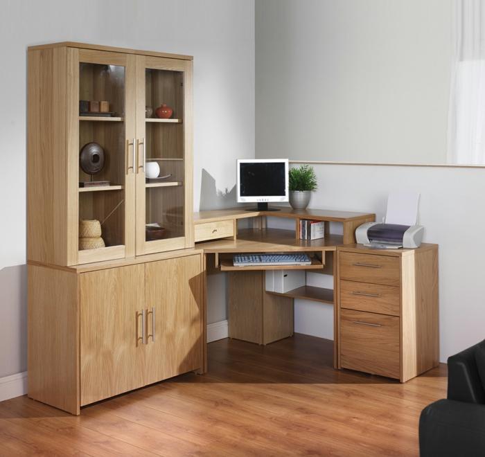 ecktisch eckschreibtisch home office pflanze
