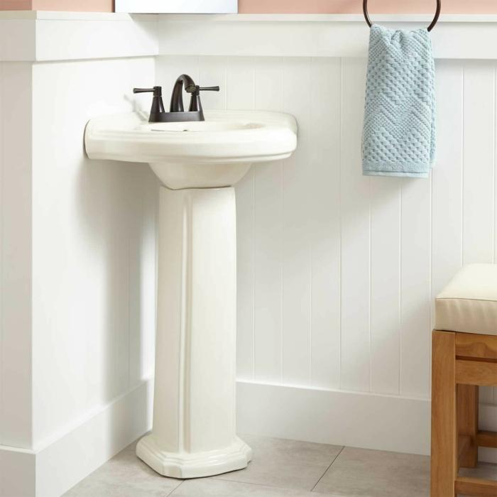 eckwaschbecken weiß weißes badezimmer gestalten badmöbel