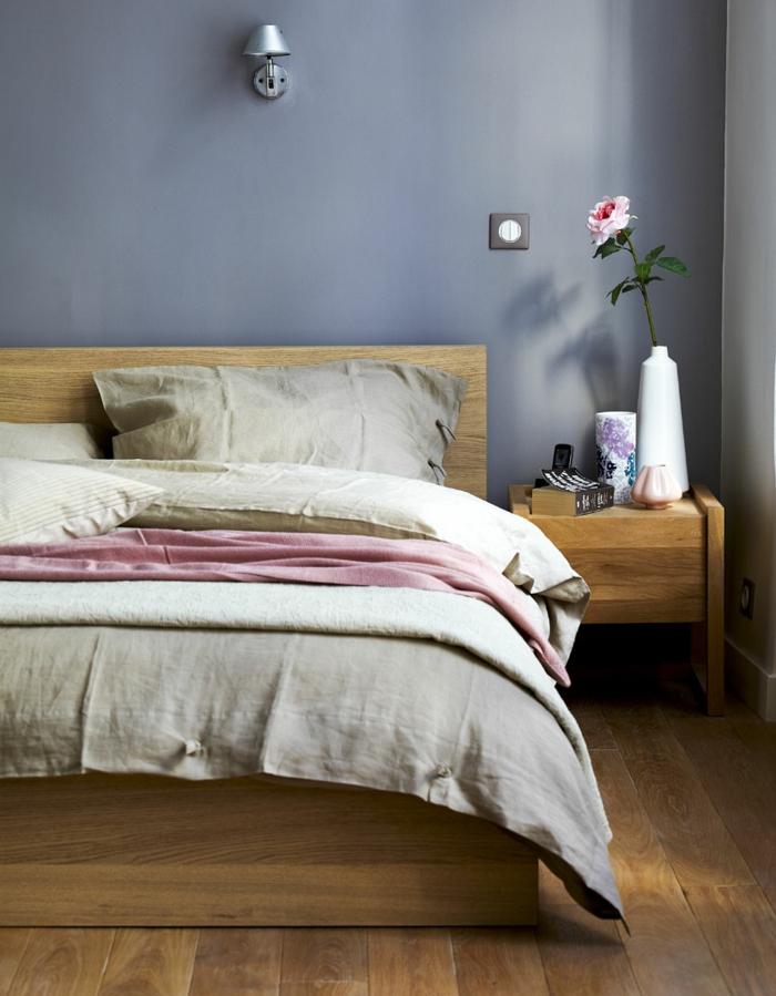 einrichtungsideen schlafzimmer hölzerne schlafzimmermöbel urban chic