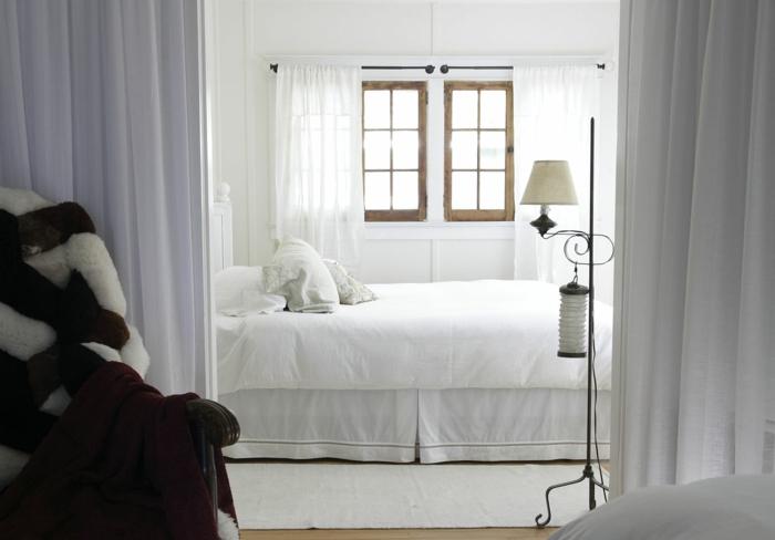einrichtungsideen schlafzimmer retro look weißes interieur