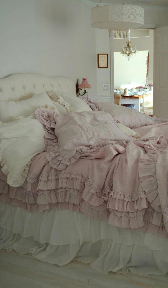 wohnideen schlafzimmer romantisch weiblich shabby chic