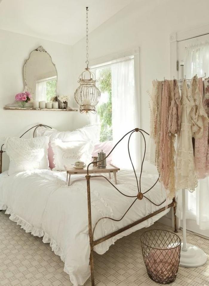 wohnideen schlafzimmer weiblich shabby chic fenster