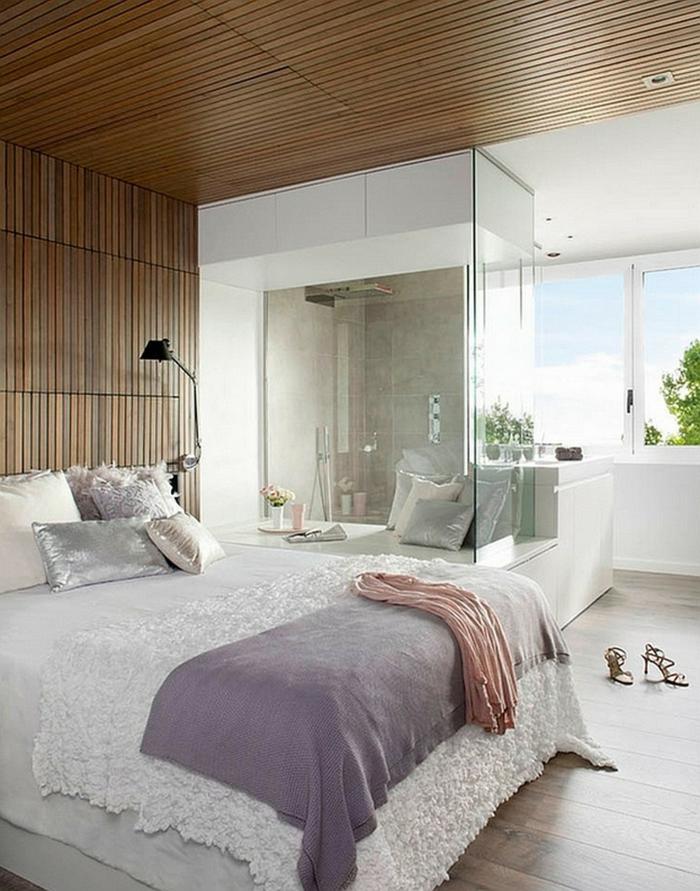 wohnideen schlafzimmer weibliche ausstrahlung dusche schöne deckengestaltung