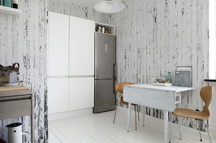 esstisch shabby chic küche wanddekoration rustikale akzente