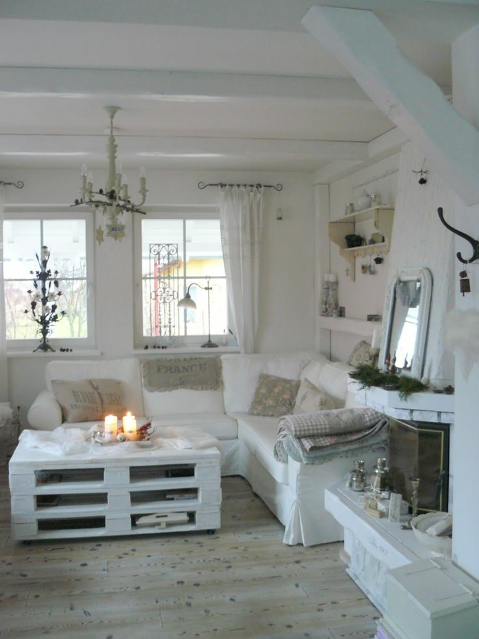 einrichtungstipps wohnzimmer shabby chic fotos:Shabby Chic Living Room Brown and White