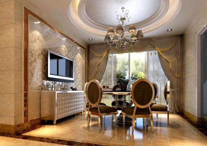 Ideen Esszimmergestaltung : einrichten runder esstisch luxuriöse ...