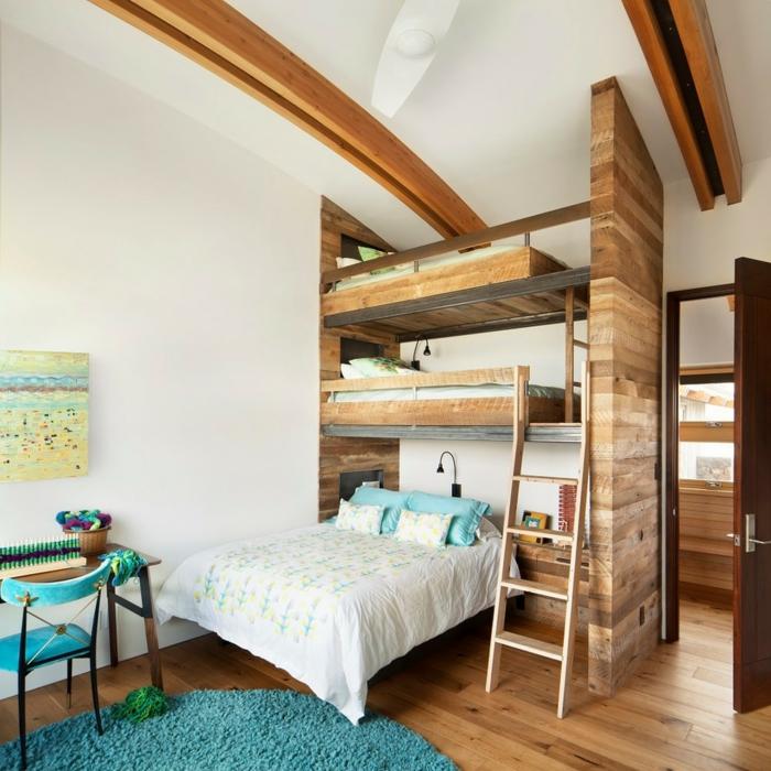 53 Etagenbetten - Die Perfekte Lösung Fürs Kinderzimmer, Wenn Sie ... Schlafzimmer Und Kinderzimmer In Einem Raum