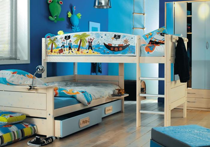 Etagenbett Verschönern : Etagenbett picco aus weiß lackiertem buchenholz kindermöbel