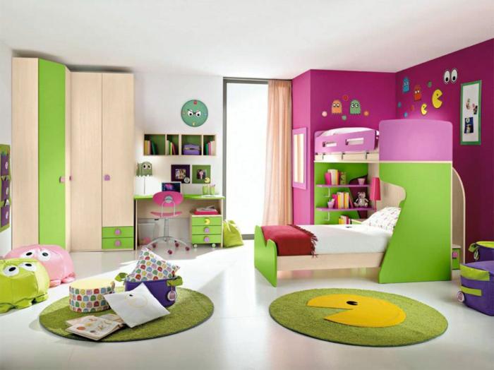 etagenbett wohnideen kinderzimmer archiexpo runde teppiche farbenfrohes design
