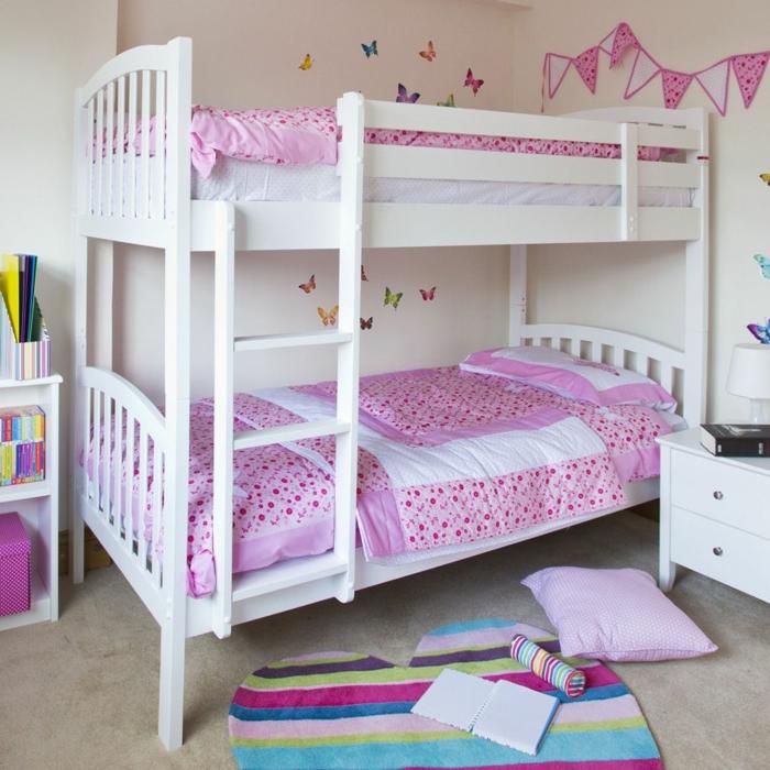 etagenbett wohnideen kinderzimmer ikea mädchenzimmer gestalten farbiger teppich