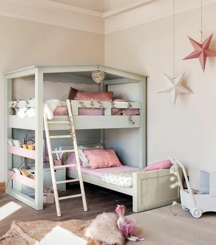 etagenbetten kinderzimmer einrichten ideen treppe