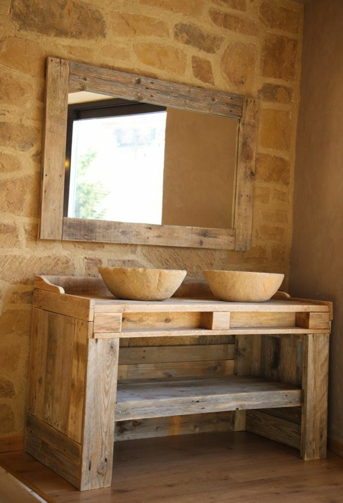 101 holzpaletten ideen f r ihr stilvolles zuhause for Badeinrichtung waschbecken