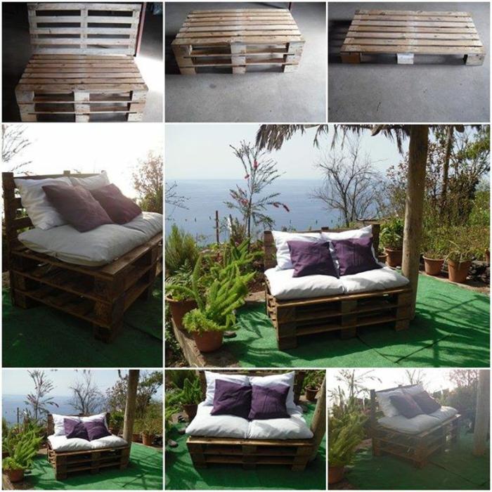 europalette holz paletten ideen diy möbel garten sofa