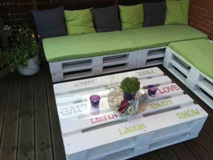 europalette holz paletten möbel couchtisch sofa balkonmöbel terrassengestaltung