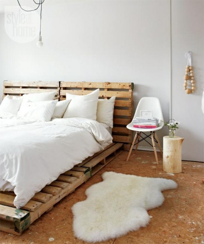 europalette holz paletten möbel diy idee doppelbett style at home