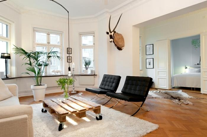 europalette holz paletten möbel diy ideen wohnzimmer barcelona sessel couchtisch