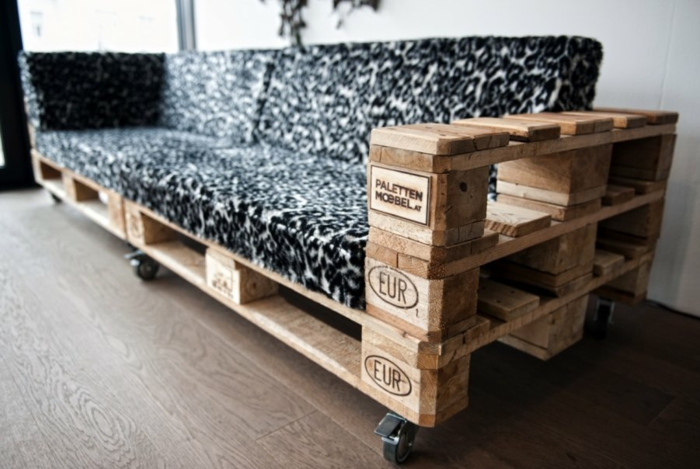 europaletten holz paletten möbel ideen diy sofa