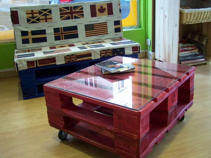 europaletten möbel diy ideen couchtisch sofa