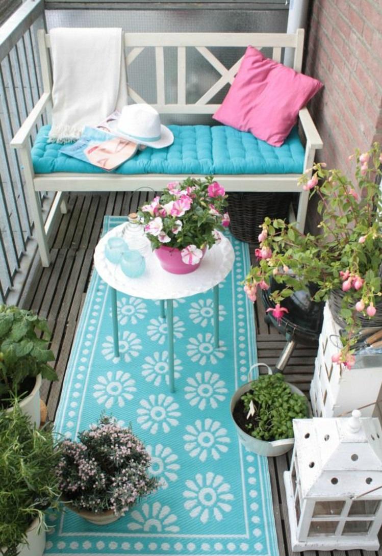 gemütliche balkonideen balkonmöbel für kleinen balkon aussuchen