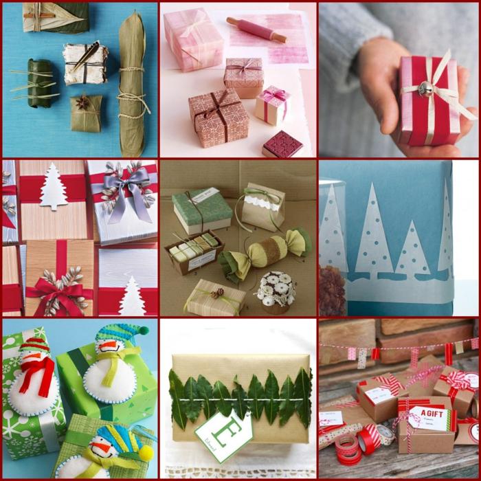 geschenke verpacken geschenk verpacken geschenke schön verpacken geschenk biene braun collage