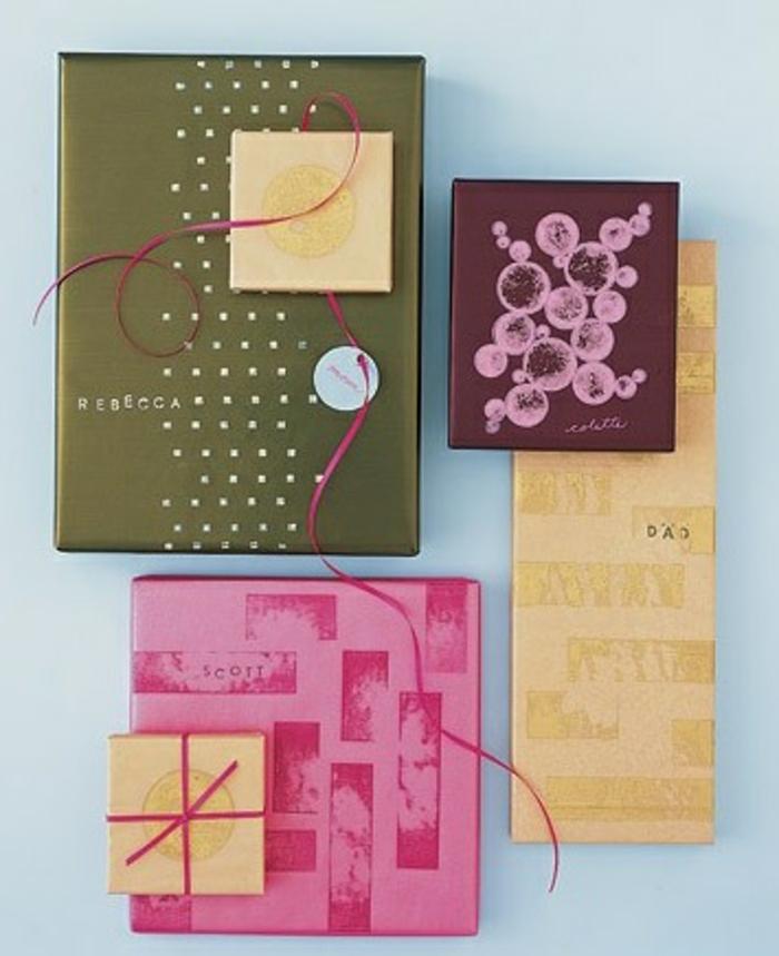 geschenke verpacken geschenk verpacken geschenke schön verpacken geschenk biene braun gruen-schick