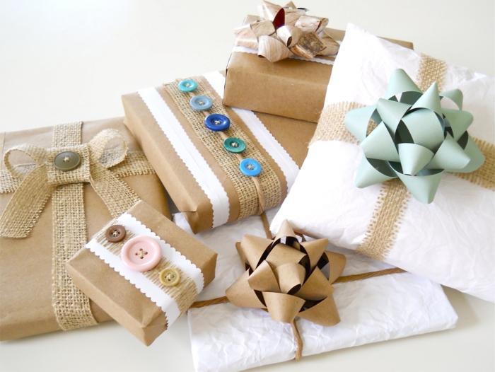 geschenke verpacken geschenk verpacken geschenke schön verpacken geschenk idee weiss braun