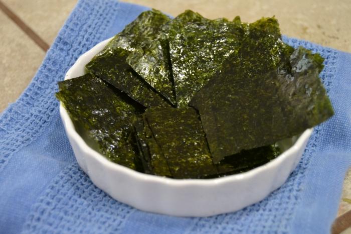 gesundes essen algen essen ideen snacks