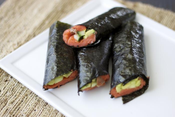 gesundes essen algen essen sushi ideen