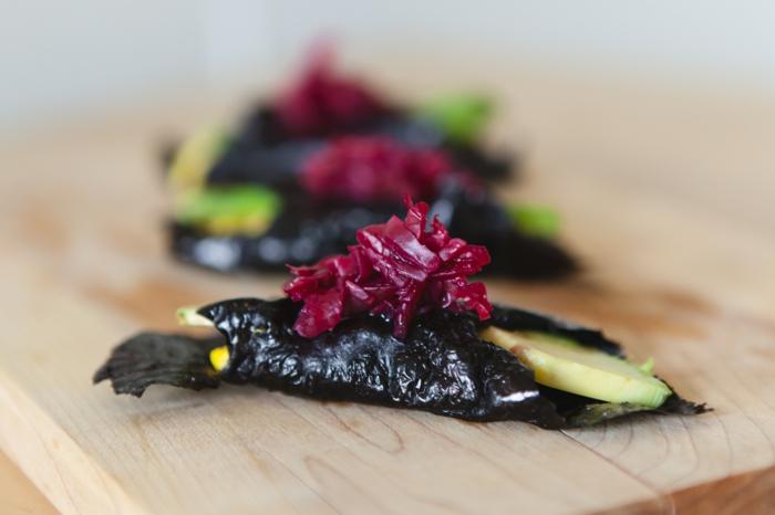 gesundes essen rezeptideen algen kleine mahlzeiten