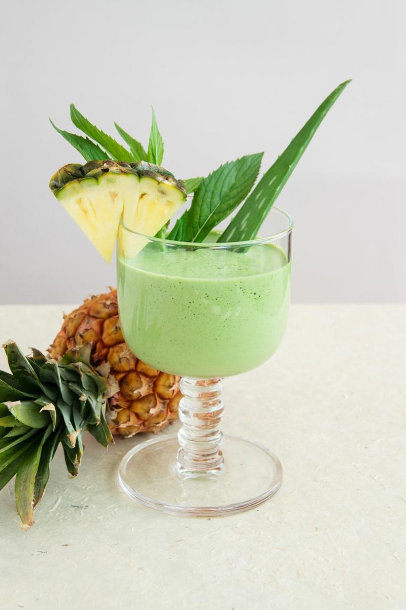gesundes leben für frauen gesunde lebensmittel ananas aloe shake