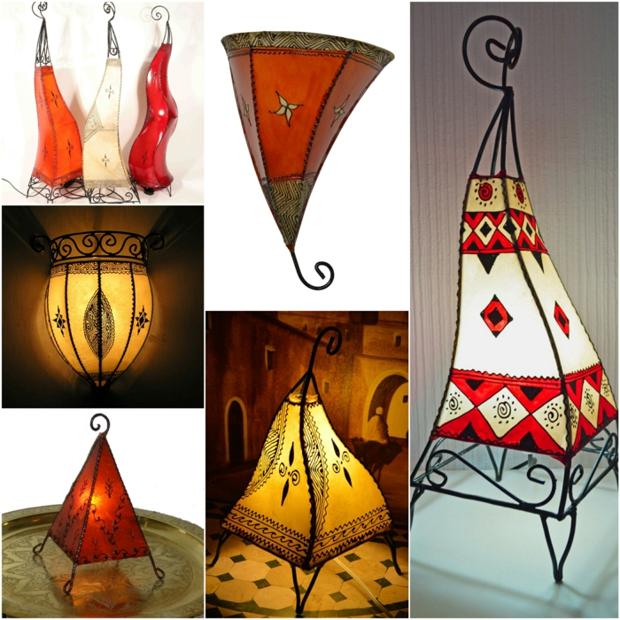 Orientalische Lampen dekorativ geworfen lampen leder