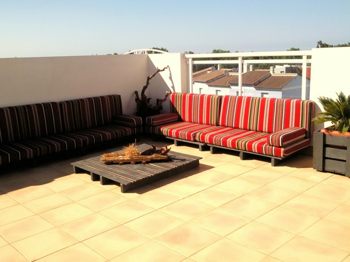 paletten möbel diy europalette sofas couchtisch terrassengestaltung
