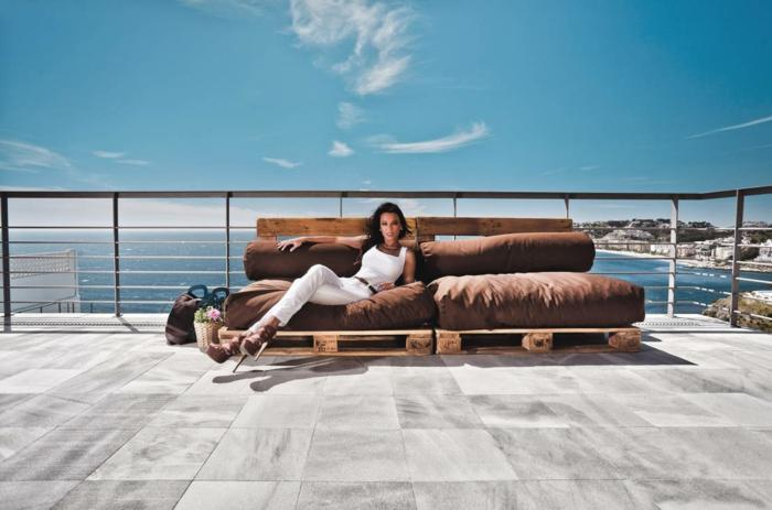 holz paletten möbel diy europalette terrassenmöbel selber bauen