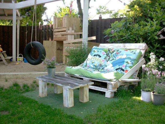 holzpaletten diy garten möbel sofa couchtisch selber bauen