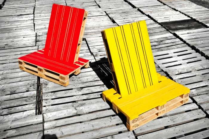 holzpaletten möbel aus paletten holz europaletten liegestühle