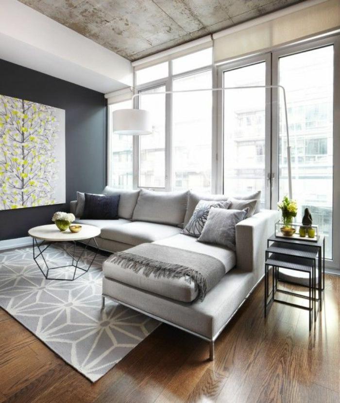 moderne sofas ecksofa wohnzimmer teppich deckengestaltung