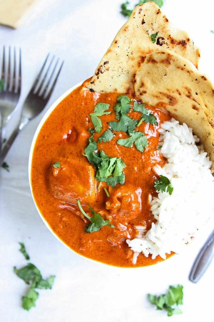 indische Spezialitäten Naan Brot indische Gerichte
