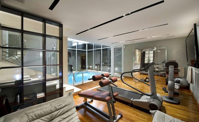 innendesign fitness raum schwimmbad schöne wohnideen